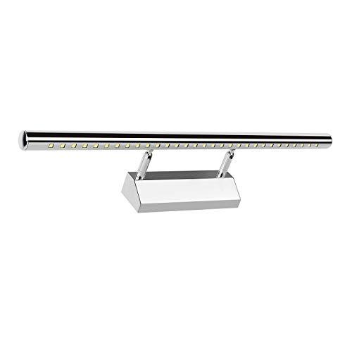 TOP LED Badleuchte Spiegelleuchte 40/60/80cm mit Schalter Badlampe Verchromt Schranklampe (55cm/7W, Warmweiß)