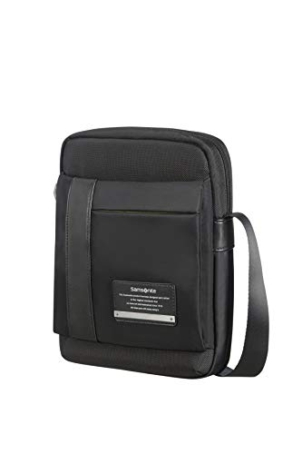 SAMSONITE TABLET CROSSOVER 9.7' (JET BLACK) -OPENROAD  Borsa Messenger, 29 cm, Nero
