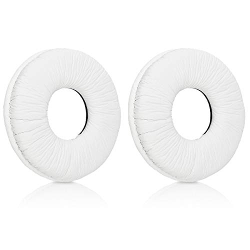 kwmobile 2X Sony MDR-V150 / V250 / V300 Headphone Pads - Synthetic Leather Replacement Pad for Helmets