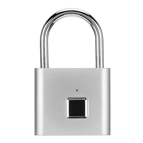 Smart Padlock Security Fingerprint Lock Anti‑Theft Keyless Padlock Rechargeable Lock for Door for Backpacks for Wardrobes
