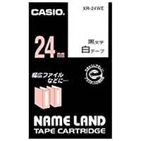 (業務用5セット) カシオ計算機(CASIO) ラベルテープ XR-24WE 白に黒文字 24mm 5個