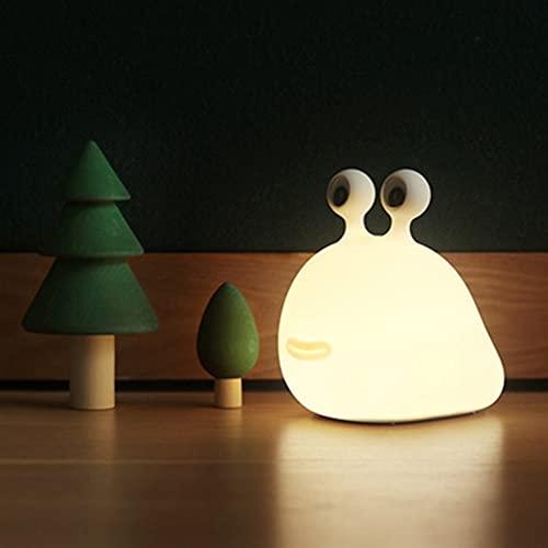LHAOJA Slug con sueño Pat Light Dormitorio USB Silicona Luz Bebé Sueño Protección de los Ojos Creativa Noche de Noche Luz de Noche, para habitación de niños, Dormitorio
