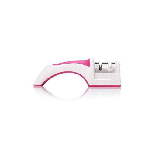 YHW Afilador de Cuchillos de Cocina Manual Estilo de diseño ultrapequeño El diseño de Dos Cabezales de Corte se Puede Usar como artilugios de Cocina (Rosa) (Color: Rosa)