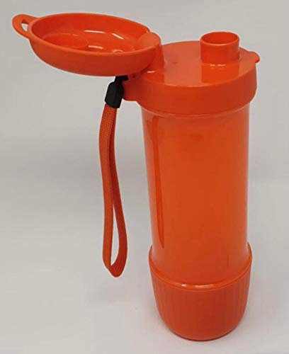 Tupper Tupperware to Go Eco Fresh Infuse Infuse Infuser con exprimidor de limón 700 ml naranja con banda Botella ecológica EcoEasy Sport Detox