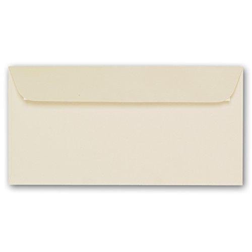 ARTOZ 50x Briefumschläge DIN Lang Chamois 100 g/m² selbstklebend - DL 224x114 mm - Kuvert ohne Fenster – Umschläge mit Haftklebung Abziehstreifen