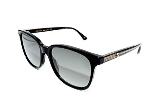 Gucci sunglasses (GG 0376 S 001) Black Shiny Gold Grey Gradient 001 Optyl...
