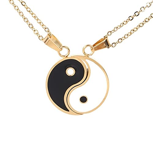 Yin and Yang Pendant Puzzle Personality Trend Necklace Birthday Couple or Couple Gift