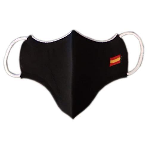 Cubrecara Fuerzas y Cuerpos de Seguridad. Negra. Especificación AITEX 2020TM1849. Bandera de España
