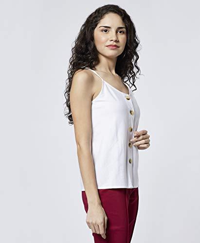 DJ&C by FBB Women's Plain Regular fit Shirt (DJWV 967_Off White Small)