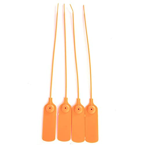Bridas de alambre, duraderas, fáciles de usar, 100 etiquetas de marcadores, fáciles de bloquear con etiqueta autobloqueante para marcar alambre y organizar bolsas de ropa (naranja brillante)