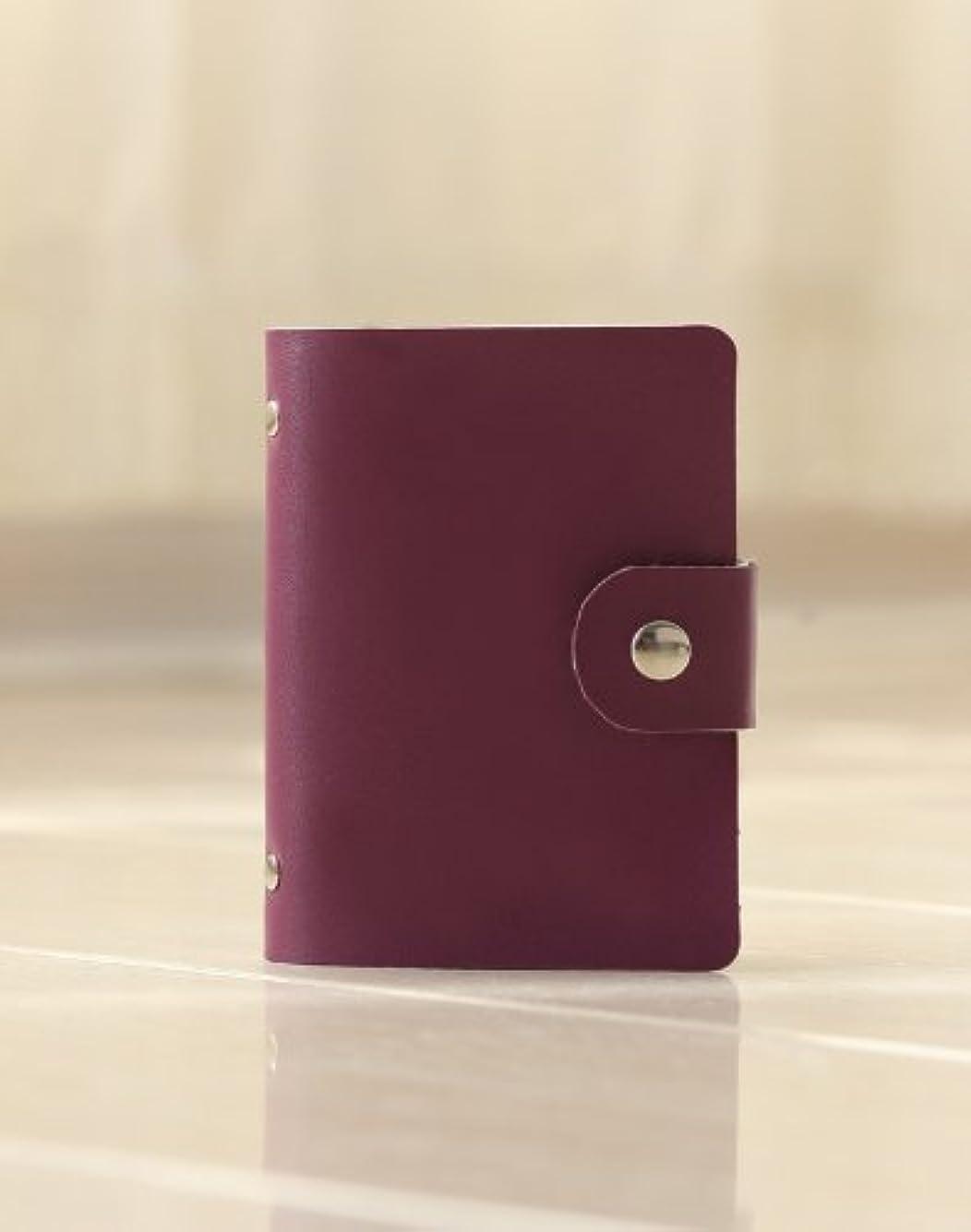 の真っ逆さまカニ26ポケット収納(52枚入れ可能)可愛い(色はパープル) カードケース 名刺ケース 女性 名刺入れ カード入れ カードケース 大容量 ポイントカード クレジットカード 40枚いや最大52枚