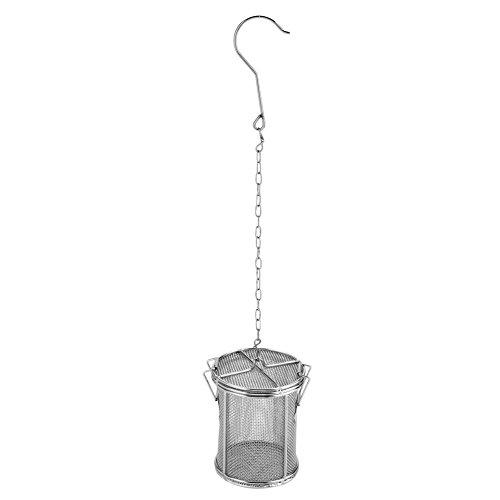 condimento spezie in acciaio INOX colino da tè sfera colino zuppa condimenti Seperation cestino Spice filtro utensili da cucina, 8 x 10cm / 3.15 x 3.94 inch