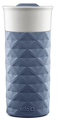 Ello Ogden BPA-Free Ceramic Travel Mug with Lid, Evening Blue, 16 oz