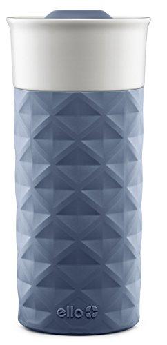 Ello Ogden BPA-Free Ceramic Travel Mug with Lid, Evening Blue, 16 oz