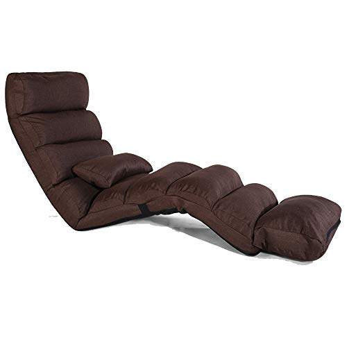 JGWJJ Sillón de Juego de Piso Ajustable Sofá reclinable Perezoso Plegable de 14 Posiciones acojina