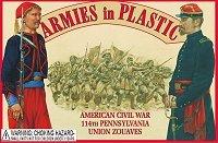 AIP American Civil War 114th Pennsylvania Union Zouaves: 20pc 54mm Plastic Army Men Figures