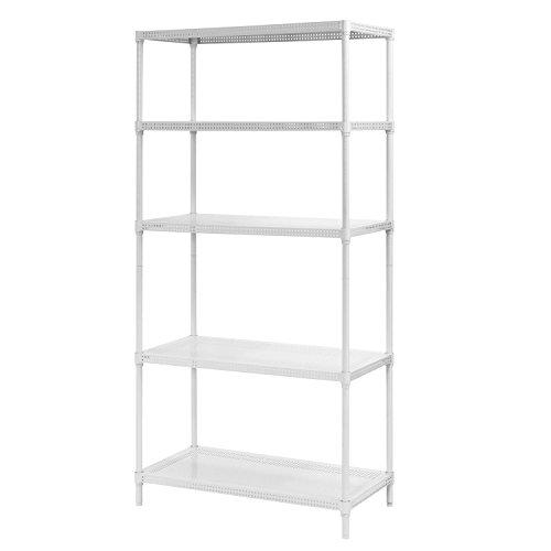 Muscle Rack PWS351871-5W Steel Wire Shelving, 5 Adjustable Shelves, 330 lb Per Shelf Capacity, 71