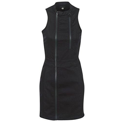 G-STAR RAW Damen Lynn Lunar Slim Dress S/Less Kleid, Schwarz (Rinsed 082), Large