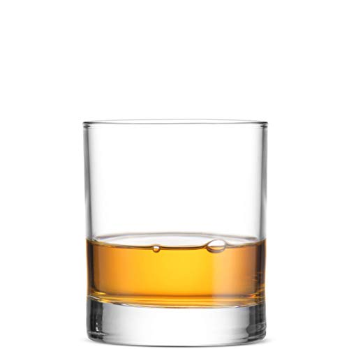 Bormioli Rocco Italian Weighted Bottom Old Fashioned Whiskey Glasses for Wine, Scotch, Cocktails, Juice, and Water - [6 Piece Set] (6 Ounce)