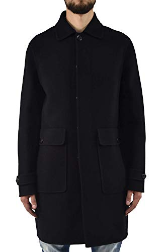 Dsquared2 Men's Long Coat Buttons Black - size 52