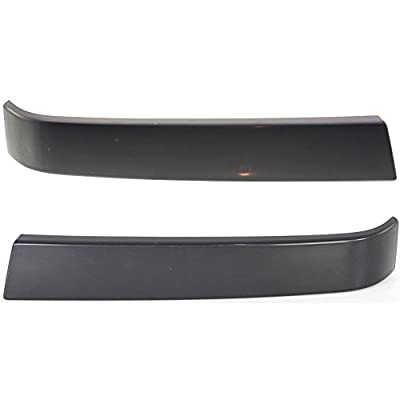Grille Molding compatible with Chevrolet Silverado 1500 Classic 07 RH and LH Smooth Black Left and Right Side