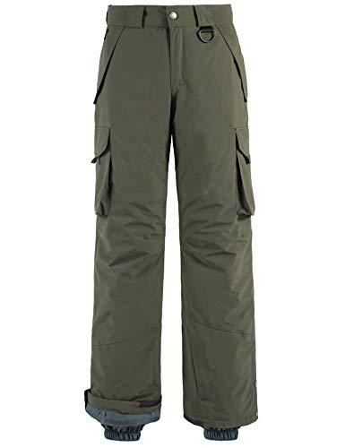 Wantdo Men's Waterproof Ski Pants Warm Insulated Snow Pants Hiking Cargo Pants