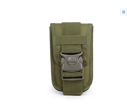 Kinhevao – Bolsa de deporte Molle Vintage, utilidad de bolso, cintura pequeña, bolsa de transporte, bolsa de deporte para exterior, gadget bolsa universal cinturón funda para teléfono móvil Holster Soporte Travel P, verde militar