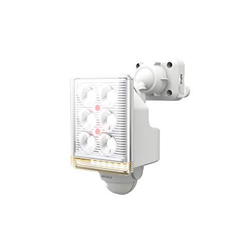 ムサシ RITEX フリーアーム式ミニLEDセンサーライト(9W×1灯) 「コンセント式」 LED-AC1009 ホワイト