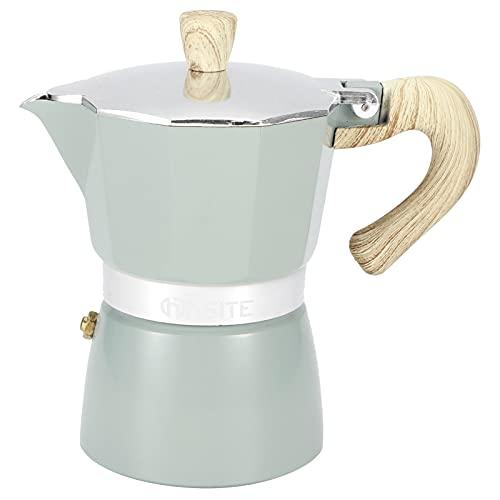 Yagosodee Cafetera octogonal para café espresso, de aluminio, 150 ml