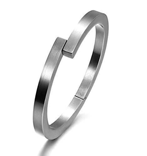 WISTIC Armband Herren Edelstahl Armreif Armpange in 18k Gold/Silber/Schwarz Armkette für Männer Jungen Kettenarmband inkl. Schmuckschachtel Tolles Geschenk (Silber 1368)