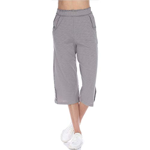Neon Buddha Women's Jersey Knit Cotton Capri Female Loose Fitting Pants with Patchwork and Exposed Seams