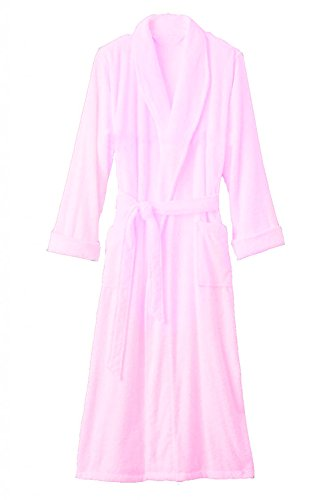 Hotel Luxury Reserve Pink Terry Velour Bathrobe For Men