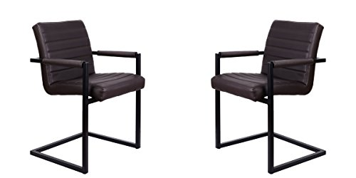 Feel Furniture -Conference Stuhl - Dunkelbraun - 2 Stück - Schlankem Industriedesign mit hochwertigen Materialien