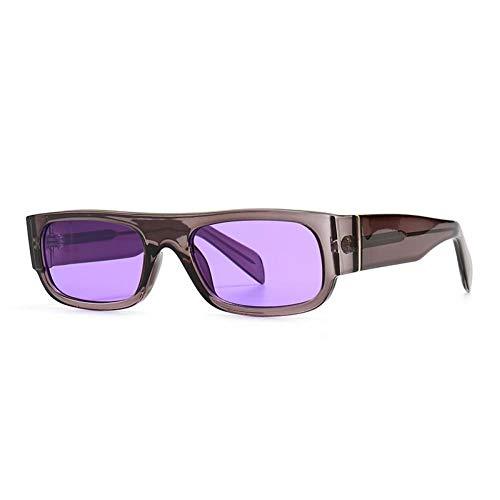 ZZOW Gafas De Sol Rectangulares Vintage para Mujer, Diseñador De Marca, Gafas Coloridas De Moda para Hombre, Gafas De Sol Cuadradas De Tendencia, Sombras Uv400