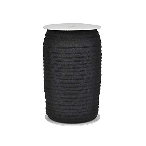 Die Stofftante Jersey Schrägband / 1 m/Meterware/viele Farben (schwarz)