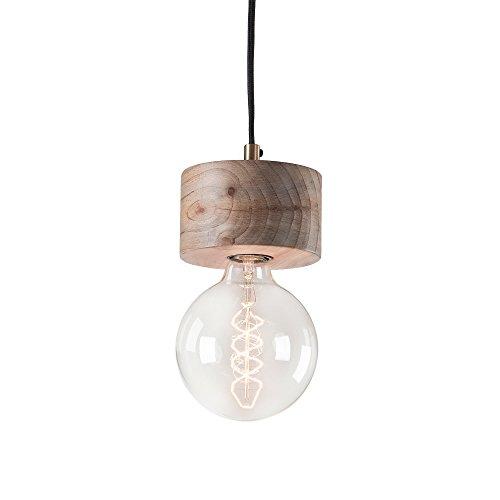 Kave Home - Lámpara de techo Allie de 1 bombilla de madera