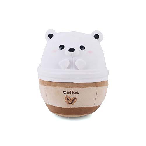 Avocatt Polar Bear Coffee Plushie - 10 Inches Stuffed Bear Ice Frappuccino Plush Stuffed Animal - Hug and Cuddle with Soft Fabric and Stuffing - Kawaii Cute Japanese Anime Style Gift