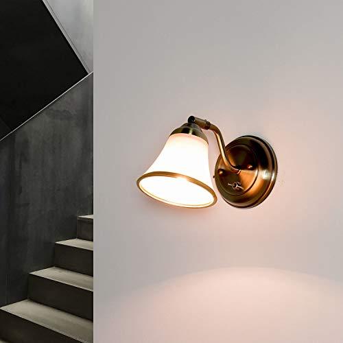 Dekorative Halogen-Badleuchte 28 Watt in Bronzeoptik Spiegellicht Jugendstil
