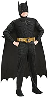 Batman Dark Knight Rises Child's Deluxe Muscle Chest Batman Costume with Mask/Headpiece and Cape - Large