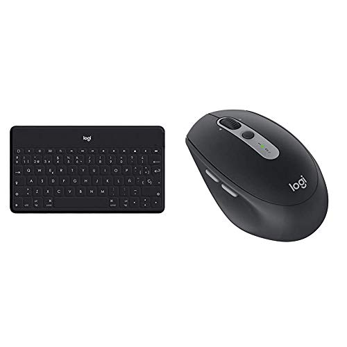 Logitech Keys-To-Go Teclado Inalámbrico Bluetooth para iPhone, iPad, Apple TV, ligero, portátil, Disposición QWERTY Español, Verde