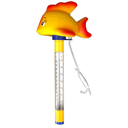 well2wellness® Poolthermometer Schwimmbad Thermometer Goldfisch