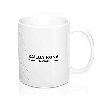 Kailua-Kona Hawaii Map Mug  11 oz
