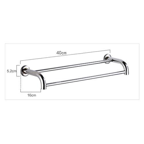 Zantec murale /épais Porte-serviettes/ /1/ou 2/Rail support 40/cm//50/cm//60/cm /Barre de serviette de salle de bain en acier inoxydable/