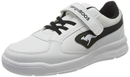 KangaROOS Unisex-Kinder K-Cope EV Sneaker, White/Jet Black 0500, 33 EU