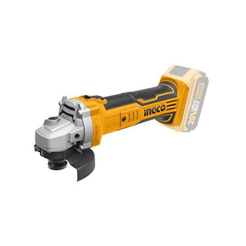 Ingco Cagli1151 Amoladora angular a batería 20 V Disco 115 mm Casquillo M14 Batería y cargador no incluidos
