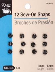Dritz - Broches para coser (tallas 4/0, 12 unidades, 80 40 1 (3 unidades), color negro