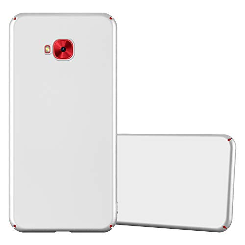 Cadorabo Hülle für Asus ZenFone 4 Selfie PRO in Metall Silber - Hardcase Handyhülle aus Plastik gegen Kratzer & Stöße - Schutzhülle Bumper Ultra Slim Back Hülle Hard Cover