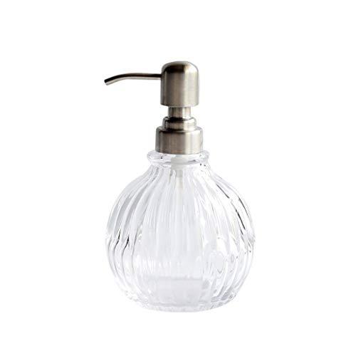 Dispensadores de jabón para encimeras de baño Jabón líquido del vidrio dispensador for la cocina Cuarto de baño decoración del hogar Accesorios de baño Champú Líquido for lavandería Emulsión dispensad