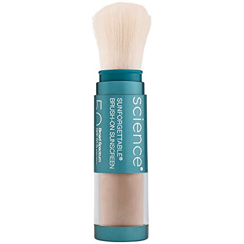 Colorescience Brush-On Sunscreen Mineral Powder for Sensitive Skin, Tan 0.21 Ounce