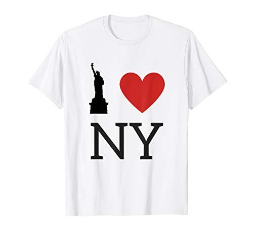 I love NY, Ich Liebe New York T-Shirt mit Freiheitsstatue